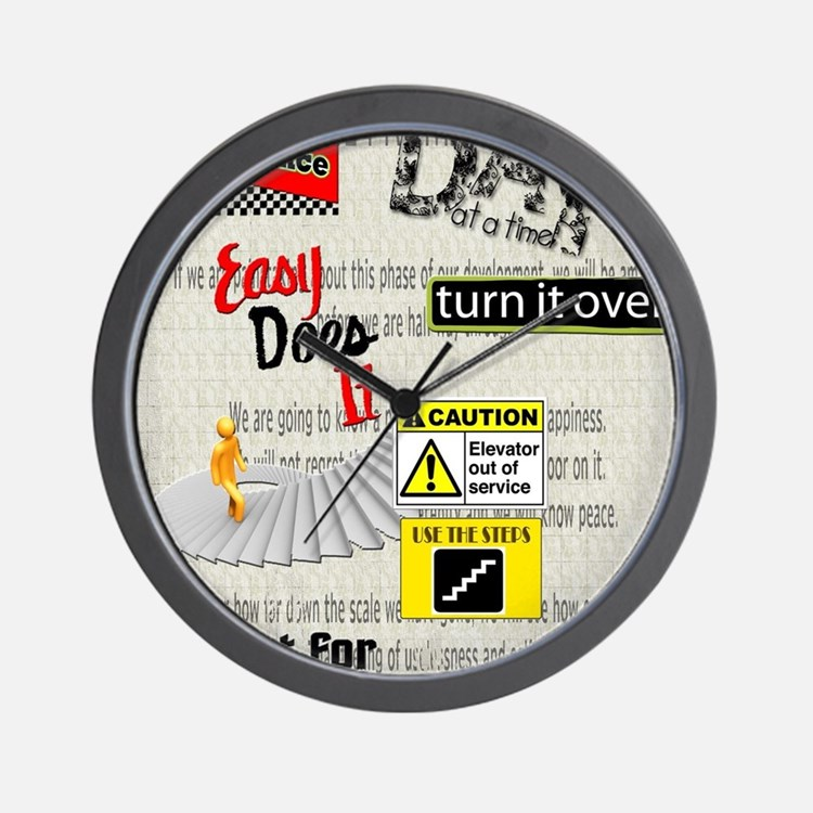 12 Step Slogans Wall Clock