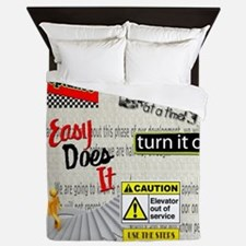 12 Step Slogans Queen Duvet