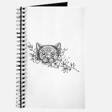 Cat Head Jasmine Flower Tattoo Journal
