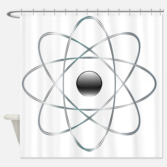Cute Molecule Shower Curtain