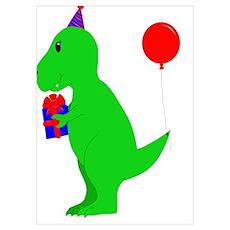 Birthday T-Rex Poster