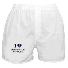I love Bennington Vermont Boxer Shorts