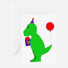 Birthday T-Rex Greeting Cards