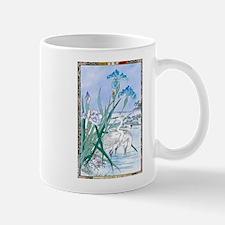 Blue Iris Heron Pond Mugs