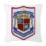 USS JOSEPH STRAUSS Woven Throw Pillow