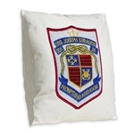 USS JOSEPH STRAUSS Burlap Throw Pillow
