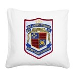 USS JOSEPH STRAUSS Square Canvas Pillow