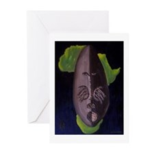 Kwanzaa Blue Mask Greeting Cards (Pk of 20)
