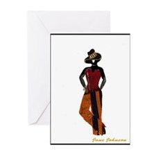 Fabric Art Blank Note Cards (Pk of 10)