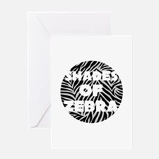 Shades of Zebra Greeting Cards