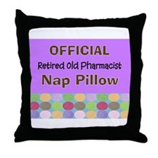 Official retired old pharmacist nap p Throw Pillow