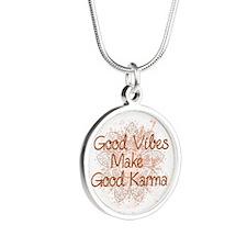 Good Karma Silver Round Necklace Necklaces