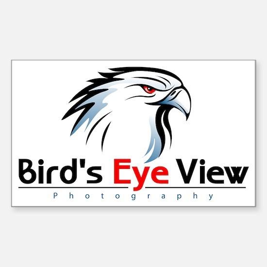 Bird's Eye View Logo Sticker (Rectangle)
