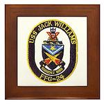 USS JACK WILLIAMS Framed Tile