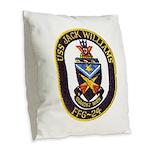 USS JACK WILLIAMS Burlap Throw Pillow