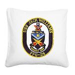 USS JACK WILLIAMS Square Canvas Pillow