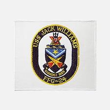 USS JACK WILLIAMS Throw Blanket