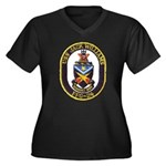 USS JACK WIL Women's Plus Size V-Neck Dark T-Shirt