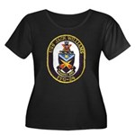 USS JACK Women's Plus Size Scoop Neck Dark T-Shirt