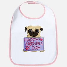 Mother's Day Pug Bib