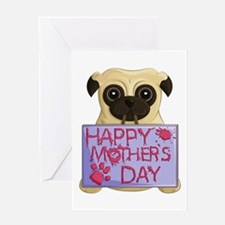 Mother's Day Pug Greeting Cards