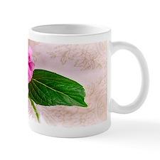 Vintage Pink Hydrangea Flower Mugs