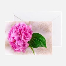 Vintage Pink Hydrangea Flower Greeting Cards