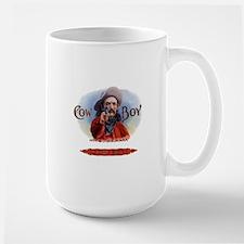 Vintage Cigar Label Cowboy Large Mug