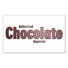 Authorized Chocolate Inspector Sticker-Rectangular