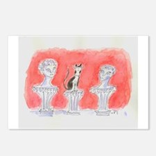 CAT STATUARY Postcards (Package of 8)