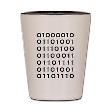 Bitcoin binary Shot Glass