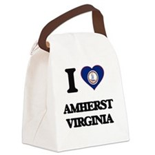I love Amherst Virginia Canvas Lunch Bag