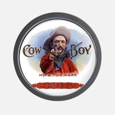 Vintage Cigar Label Cowboy Wall Clock