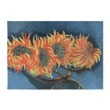 Sunflower Painting 5'x7'Area Rug