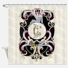 Monogram C Barbier Cabaret Shower Curtain