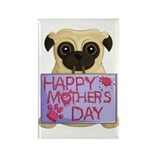 Mother's Day Pug Rectangle Magnets (10 Pack)