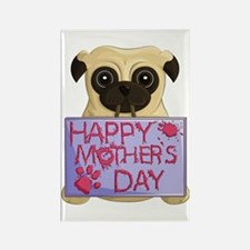 Mother's Day Pug Rectangle Magnets