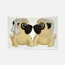 Pug Brides Magnets
