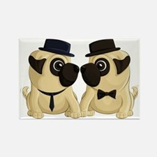 Groom Pugs Magnets