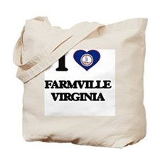I love Farmville Virginia Tote Bag