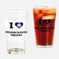 I love Fredericksburg Virginia Drinking Glass