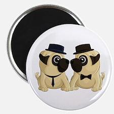 Groom Pugs Magnets