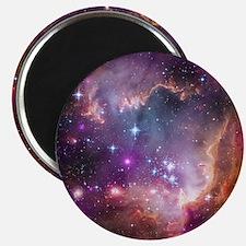 galaxy stars space nebula pink purple nasa  Magnet
