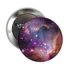 "galaxy stars space nebula pink purple 2.25"" Button"