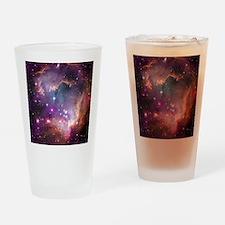 galaxy stars space nebula pink purp Drinking Glass