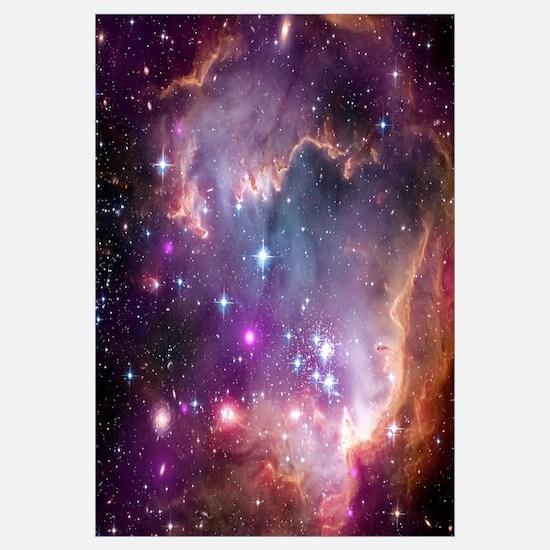galaxy stars space nebula pink purple nasa photo p