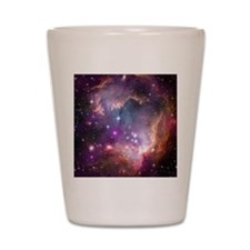 galaxy stars space nebula pink purple n Shot Glass