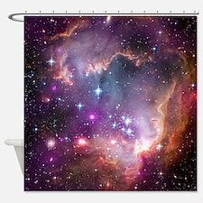 galaxy stars space nebula pink purp Shower Curtain