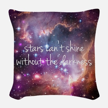 Stars Can't Shine Woven Throw Pillow