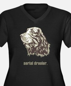 Gordon Setter Women's Plus Size V-Neck Dark T-Shir